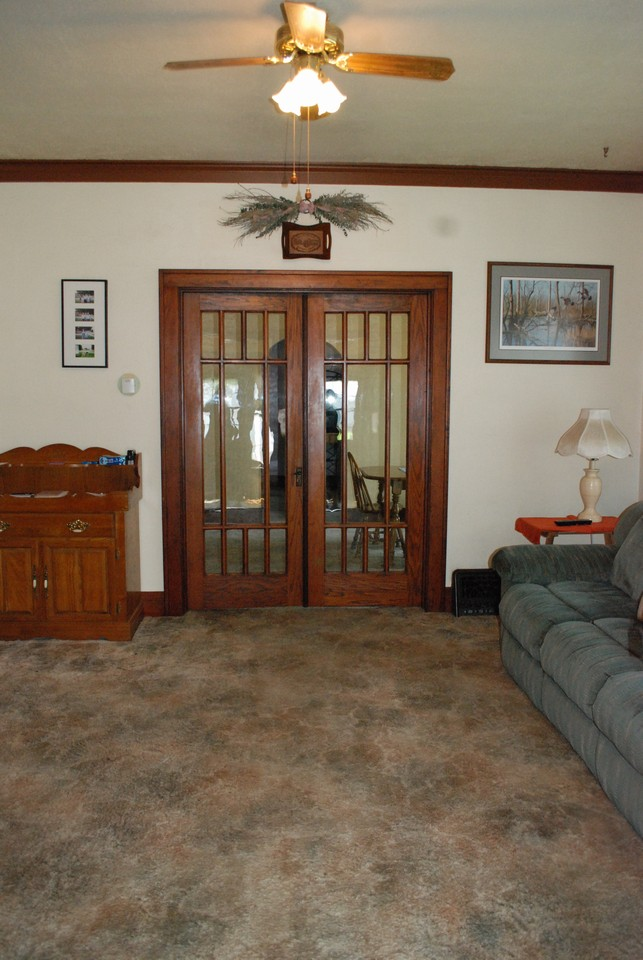 french doors into the dining room