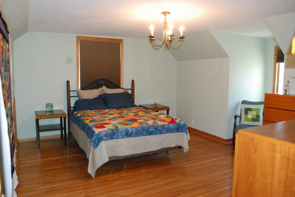 one of three bedrooms on upper level