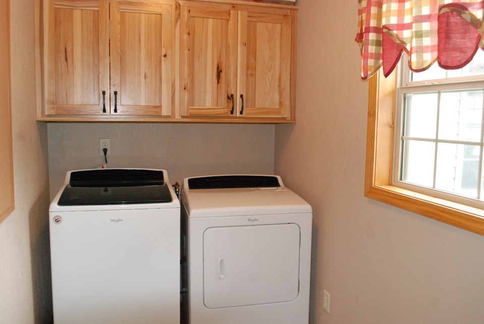 laundry room off the kitchen area on main floor