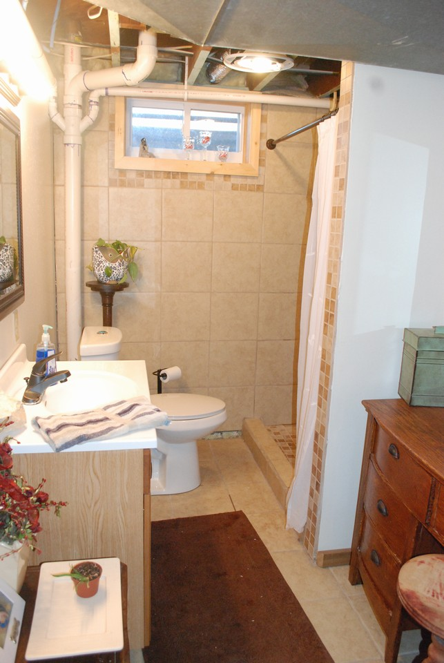 all new bathroom in basement