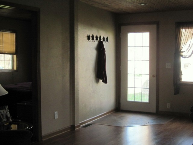 front door into living room