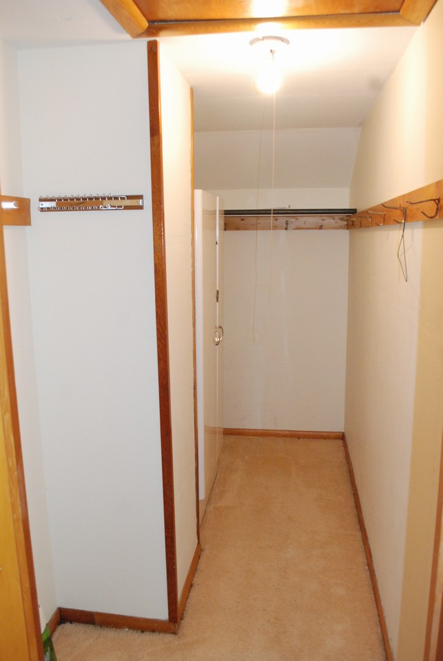 walk-in closet upper level