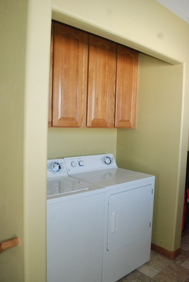 laundry on main floor and access to garage