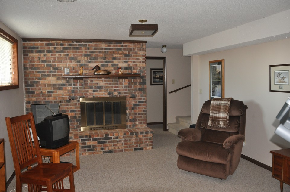 family room in lower level