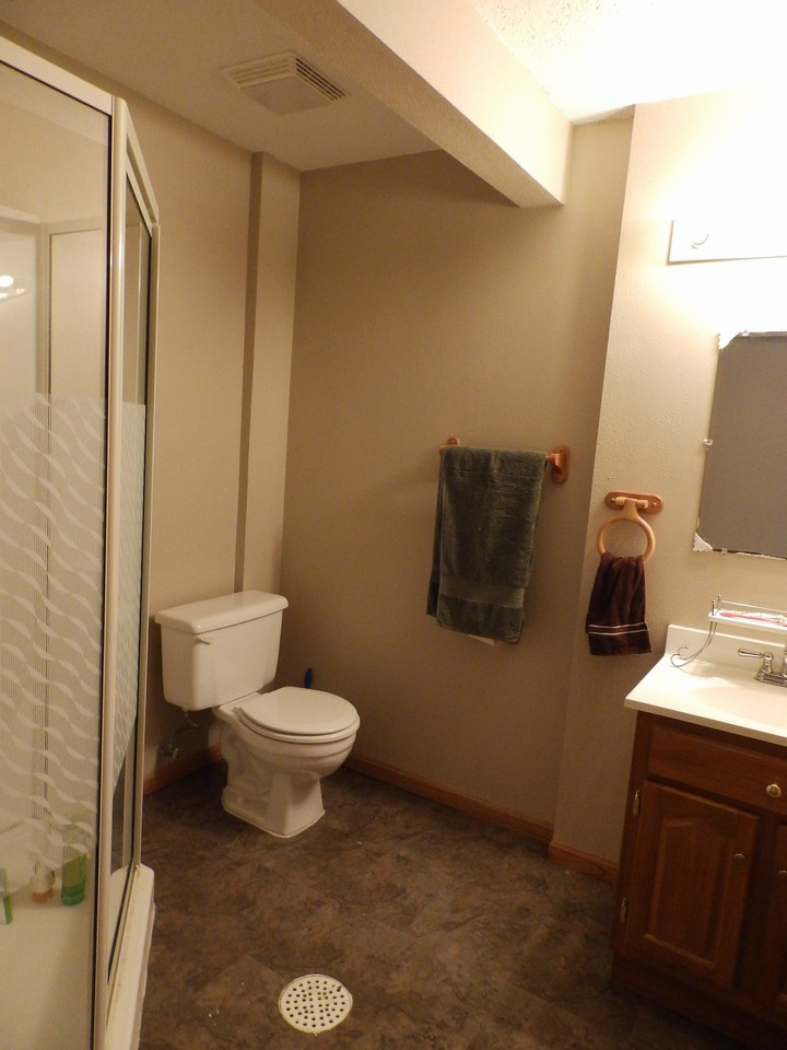 3/4 bath on lower level